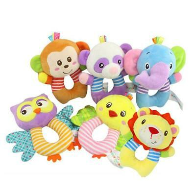 Multi shape Soft Toy Animal Baby Infant Kids Hand bell Rattle Wrist Rattles L1P8