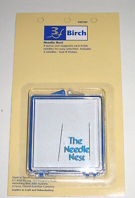 Needle Nest magnetic box to organise needles for easy selection Birch