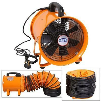 Portable Ventilator Axial Blower Workshop Ducting Extractor Industrial Fan 10""