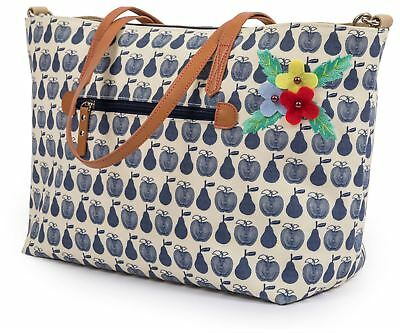 Pink Lining Nottinghill APPLES AND PEARS TOTE BLUE New Baby Travel