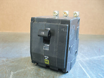 NEW Square D QOB QOB315 3 Pole 15 amp Circuit Breaker YELLOW BOLT ON