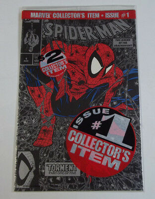 Spider-Man #1 Collectors Item Silver Issue Polybagged 9.6 NM+