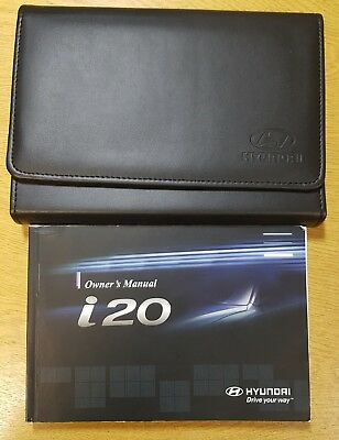 GENUINE HYUNDAI I20 OWNERS MANUAL HANDBOOK WALLET  MULTIMEDIA 2014-2017