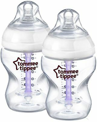 Tommee Tippee Closer To Nature Advanced Comfort 260Ml X2 Botttles 0M+ New