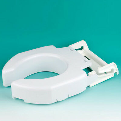 Ableware 725680000 Secure-Bolt Hinged Elevated Toilet Seat-Standard