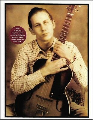 Chet Atkins (circa 1943) with vintage Martin archtop guitar 8 x 11 pin-up photo