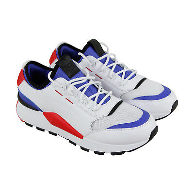 9f99d4a8d4dd4 PUMA RS-0 SOUND Mens White Canvas & Mesh Low Top Lace Up Sneakers Shoes