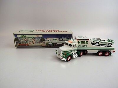 1991 Hess Toy Truck & Racer w Friction Motor & Headlights & Taillights, Racer VG