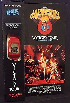 MICHAEL JACKSON 1984 Vintage WATCH Official VICTORY TOUR In Box NEVER Opened NOS