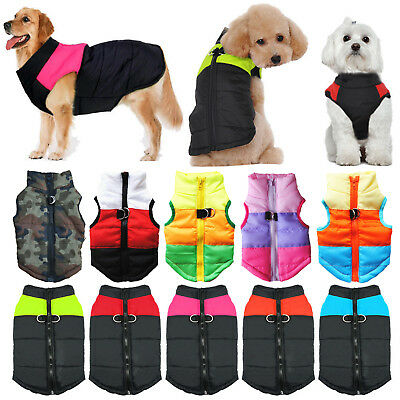 Waterproof Pet Dog Cat Puppy Clothes Winter Warm Padded Coat Vest Jacket Clothes