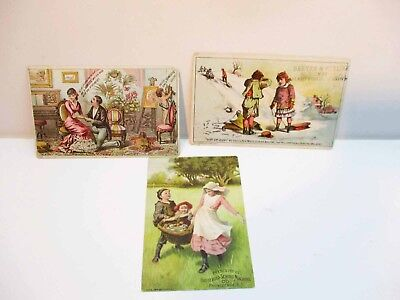 Household Domestic White Sewing Machine Advertising Cards