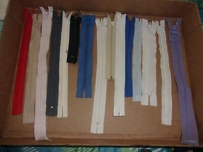 Large Lot Of Zippers: Free Shipping