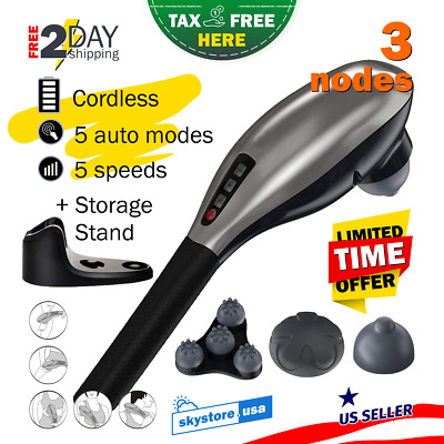 Cordless Electric Full Body Massager Handheld Back Head Neck Leg Foot Therapy