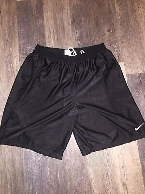 Vintage Nike Black Shiny Satin Basketball Shorts Sz XL Made In USA