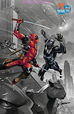 Nycc 2018 Black Panther Vs Deadpool #1  Benjamin Variant Cover Marvel Comic Book