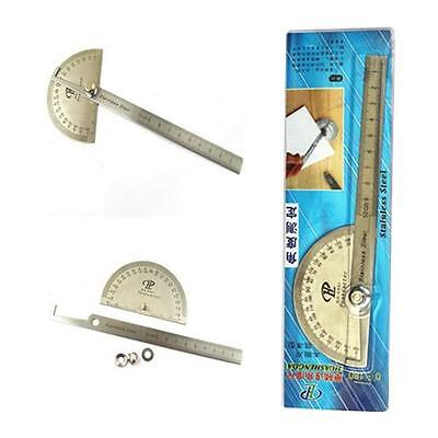 Professional Round Head 180° Protractor Angle Finder 100mm Arm Ruler Measure