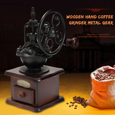 Manual Coffee Grinder Coffee Bean Grinding Mill Hand-crank Roller Kitchen Tool