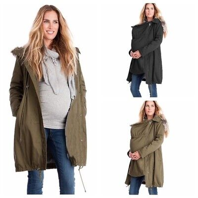 Pregnant Womens Winter Warm Long Jacket Coat Maternity Kangaroo Baby Hoodie Coat