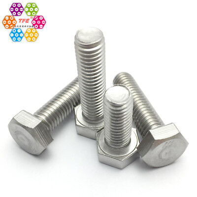 "TFE Stainless Steel 304/A2 Hex Head Bolt, Fully Threaded (3/8""-1"")"