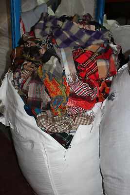 Job Lot 20Kg Vintage Check Scarves Scarf Scarfs Winter Wholesale Wool Nova