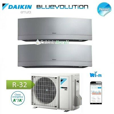 Air Conditioner Daikin Dual Wechselrichter Emura Silver Wi-Fi Bluevolution 7+ 7+