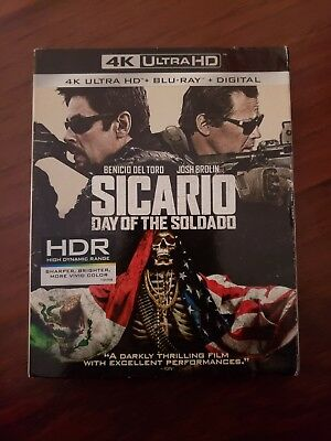Sicario Day of the Soldado 4K Blu-Ray Digital Slipcover Brand NEW ,FREE shipping