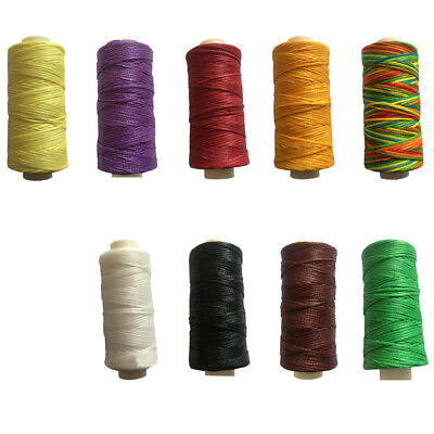 50m 1mm Waxed Polyester Thread Cord Beading Macrame String Bracelet Necklace DIY