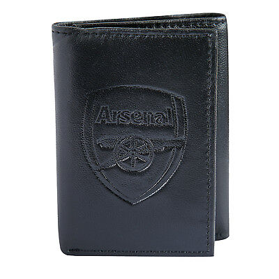 Arsenal FC Official Football Gift Embossed Crest Leather Money Travel Wallet