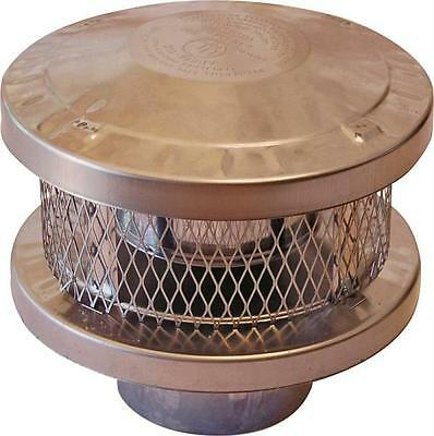 SuperVent Durable Stainless Steel Universal Round Rain Chimney Cap Replacement