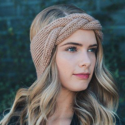 Stirnband Haarband Strick Wolle Warm Winter Blogger Boho Party