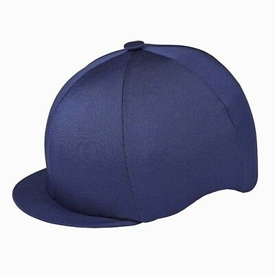 Navy Blue Capz Riding Hat Silk Cover For Jockey Skull Caps One Size