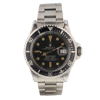 Rolex Submariner Steel 40 mm Black Dial Automatic Mens Head Only Watch 1680