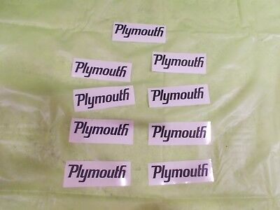 Plymouth Decals!! A Group Of Nine Original Dodge Decals All For One Price!!
