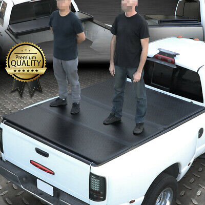 For 09-18 Ram 1500/2500 6.5Ft Short Bed Frp Hard Solid Tri-Fold Tonneau Cover