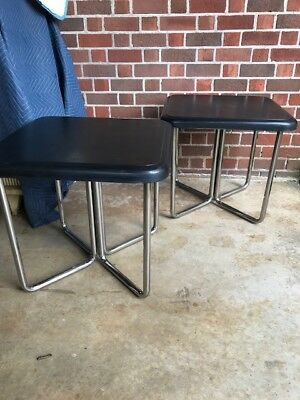 Cool Pair of Vintage Modern Chrome End tables