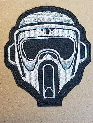Star Wars Biker Scout Helmet embroidered Patch 3 1/2 inches tall