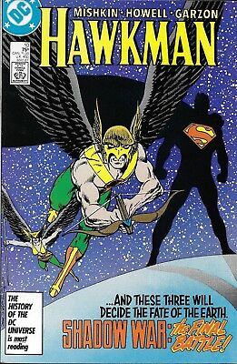 Hawkman Comic Issue 10 Copper Age First Print 1987 Dan Mishkin Howell Garzon DC