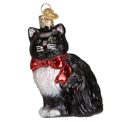 """Tuxedo Kitty"" (12452)X Old World Christmas Glass Ornament w/OWC Box"