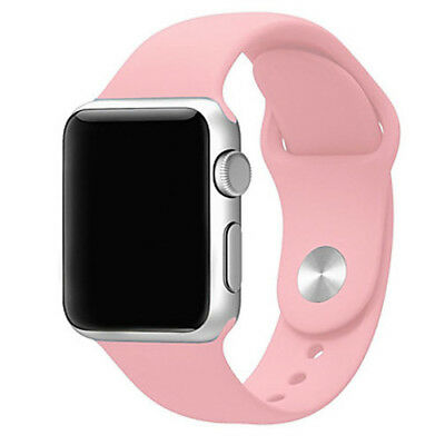 Para Apple Watch 42mm Series 1 2 3 Recambio Correa reloj silicona Rosa