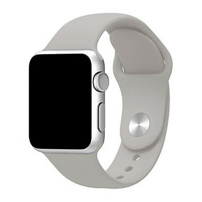 Para Apple Watch 42mm Series 1 2 3 Recambio Correa reloj silicona Gris