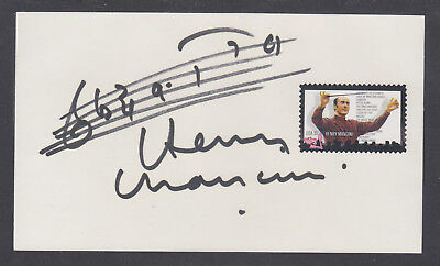 Henry Mancini, American Composer, 4 time Academy Award Winner, signed card