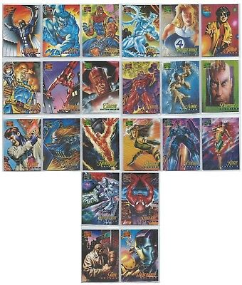 1995 Marvel Masterpieces Series IV 4 Canvas Collection 22 Card Insert Set