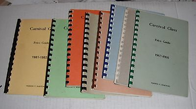 Carnival Glass Price Guides--by Marion Hartung..1967 thru 1982....8 different.