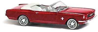 Busch 47513 Ford Mustang Convertible » Metallica«, Red, Car Model 1:87 (H0)