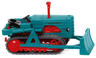Wiking 084437 Hanomag K55 Tracked Tractors with Snow Plough, Car Model 1:87 (H0)