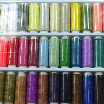 1Set 200yds Polyster Threads Sewing Machine Cotton Assorted DIY 39 Colours