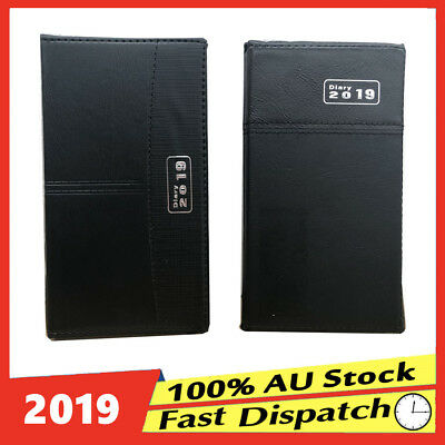 Slim 2019 Diary Organiser Personal PU Leather Planer Appointment Week To View