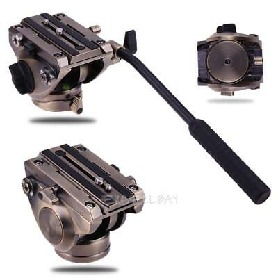 360° Professional Tripod Fluid Head With Quick Release Sliding Plate For DSLR Ca