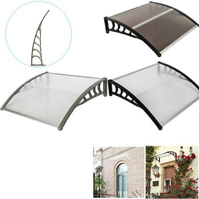"""40""""x 40"""" Window Awning Door Canopy Outdoor Polycarbonate Front 3 Color Sun Shade"""