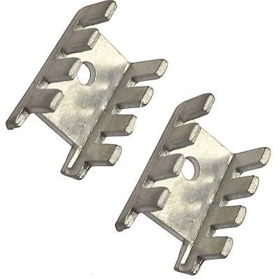 Small Transistor Heat Sink Aluminium TO-220 TO-126  ( PACK OF 2 )